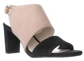 Alfani A35 Iddris Open Toe Ankle Strap Sandals, Fawn/black.
