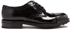 Prada Contrast-toe lace-up leather brogues