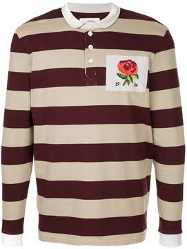 Kent & Curwen embroidered rose polo shirt