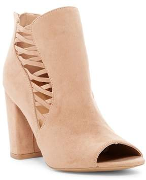 Qupid Chester Strappy Block Heel Bootie