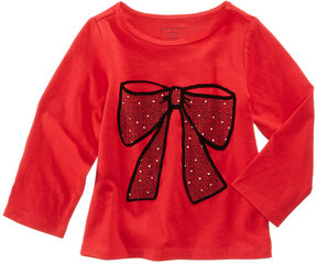 First Impressions Bow-Print Cotton T-Shirt, Baby Girls (0-24 months), Created for Macy's