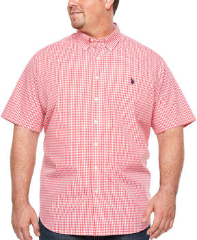 U.S. Polo Assn. USPA Short Sleeve Button-Front Shirt-Big and Tall