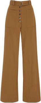 A.L.C. Linen and Silk-Blend Twill Wide-Leg Pants