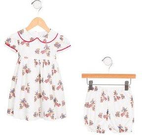 Rachel Riley Girls' Bear Print Dress Set