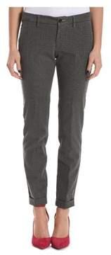 Berwich Women's Grey Cotton Pants.