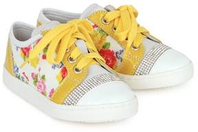 MonnaLisa Floral and Patent Trainers