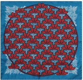 Eton Silk Maple Leaf Pocket Square