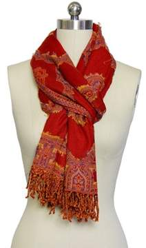 Saachi Women's Woven Cutout Scarf.