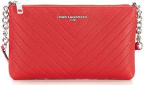 Karl Lagerfeld Paris Gorgette Chevron-Quilted Chain Cross-Body Bag