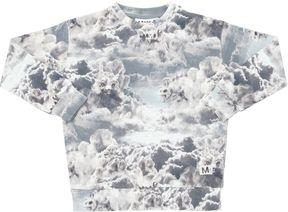 Molo Animals In The Clouds Cotton Sweatshirt