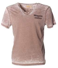 Blauer Men's Beige Cotton T-shirt.