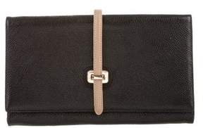Neiman Marcus Textured Leather Clutch