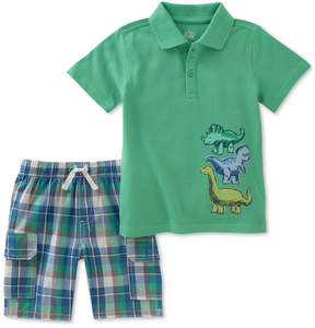Kids Headquarters 2-Pc. Graphic-Print Cotton Polo & Shorts Set, Baby Boys