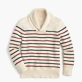J.Crew Boys' shawl-collar cotton striped sweater