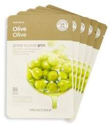 Five-Pack Olive Extract Face Mask Set