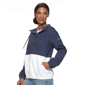 Columbia Women's Amberley Stream Hooded Colorblock Pullover Jacket