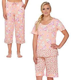 Carole Hochman Lakeside Bloom 3 Piece Pajama Set