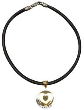 Bulgari Stainless Steel Heart Pendant Necklace