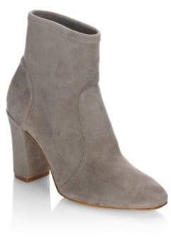 Schutz Leather Block Heel Booties