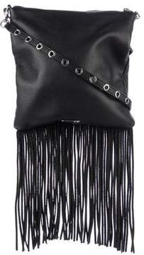 Rebecca Minkoff Fringe-Trimmed Leather Crossbody Bag