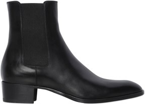 40mm Wyatt Leather Chelsea Boots