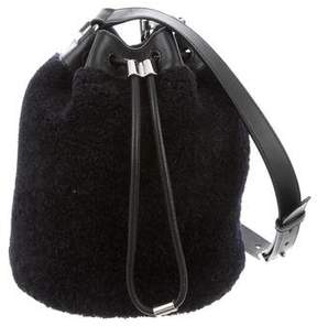 Alexander Wang Shearling Alpha Bucket Bag