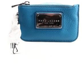Marc Jacobs Blue Glacier Pebble Leather Recruit Coin Key Zip Purse - BLUES - STYLE