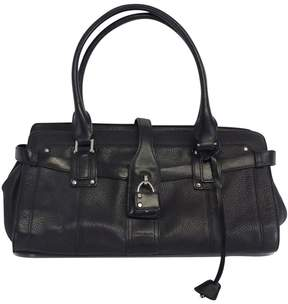 Karen Millen Black Leather Shoulder Bag