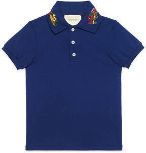 Children's cotton polo with dragon