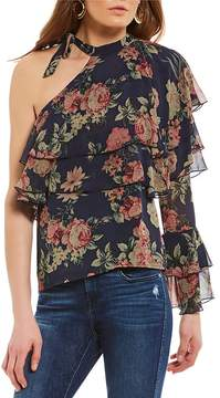 WAYF Winnie Tiered One Shoulder Top