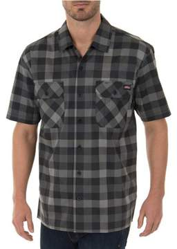 Dickies Genuine  Men's Performance Plaid Flex Pen Pocket Shirt