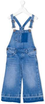 Tommy Hilfiger Junior frayed edges denim dungaree