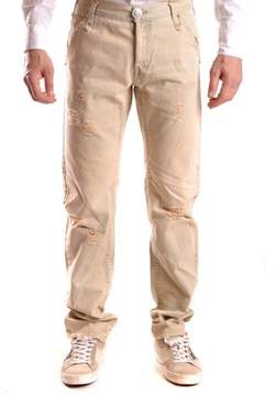 Richmond Men's Beige Cotton Jeans.