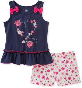 Kids Headquarters 2-Pc. Ladybug Tank Top & Shorts Set, Little Girls
