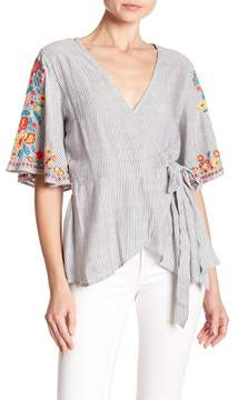 Angie Short Sleeve Embroidered Blouse