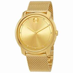 Movado Bold Gold Sunray Dial Unisex Watch 3600460