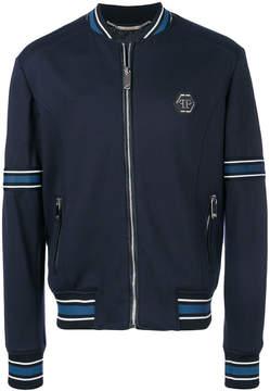 Philipp Plein stripe detail bomber jacket
