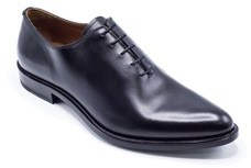 Givenchy Mens Black Polished Leather Derby Lace Shoes Oxfords.