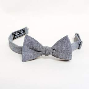 Blade + Blue Solid Grey Chambray Bow Tie