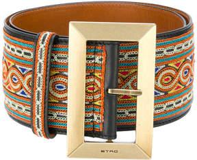 Etro mixed pattern belt