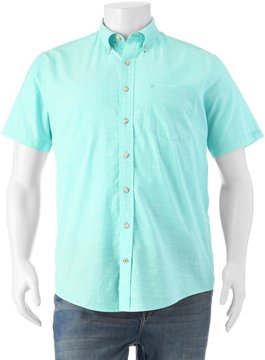 Izod Big & Tall Dockside Classic-Fit Chambray Button-Down Shirt