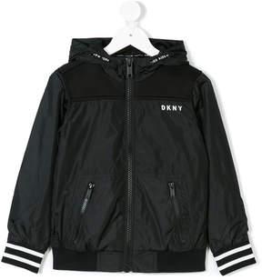DKNY hooded logo jacket