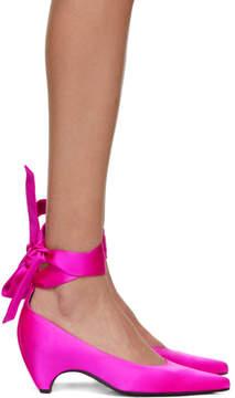 Stella McCartney Pink Satin Mary Jane Heels