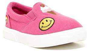 Mia Twin Gore Emoji Slip-On Sneaker (Toddler & Little Kid)