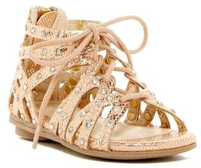 Kenneth Cole New York Bright Ghillie Rhinestone Gladiator Sandal (Toddler)