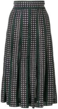 Bottega Veneta knitted check skirt