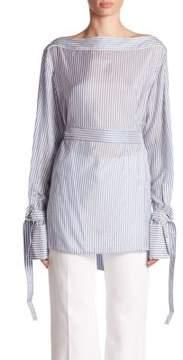 Calvin Klein Collection Keith Bis Belted Stripe Shirt