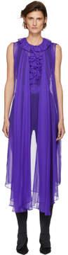 Balenciaga Purple Sheer Long Blouse