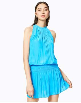 Ramy Brook | Paris Sleeveless Dress | L | Blue