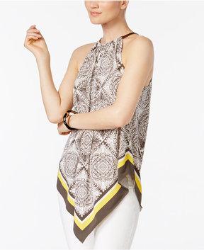 Alfani Chain-Neck V-Hem Top, Created for Macy's